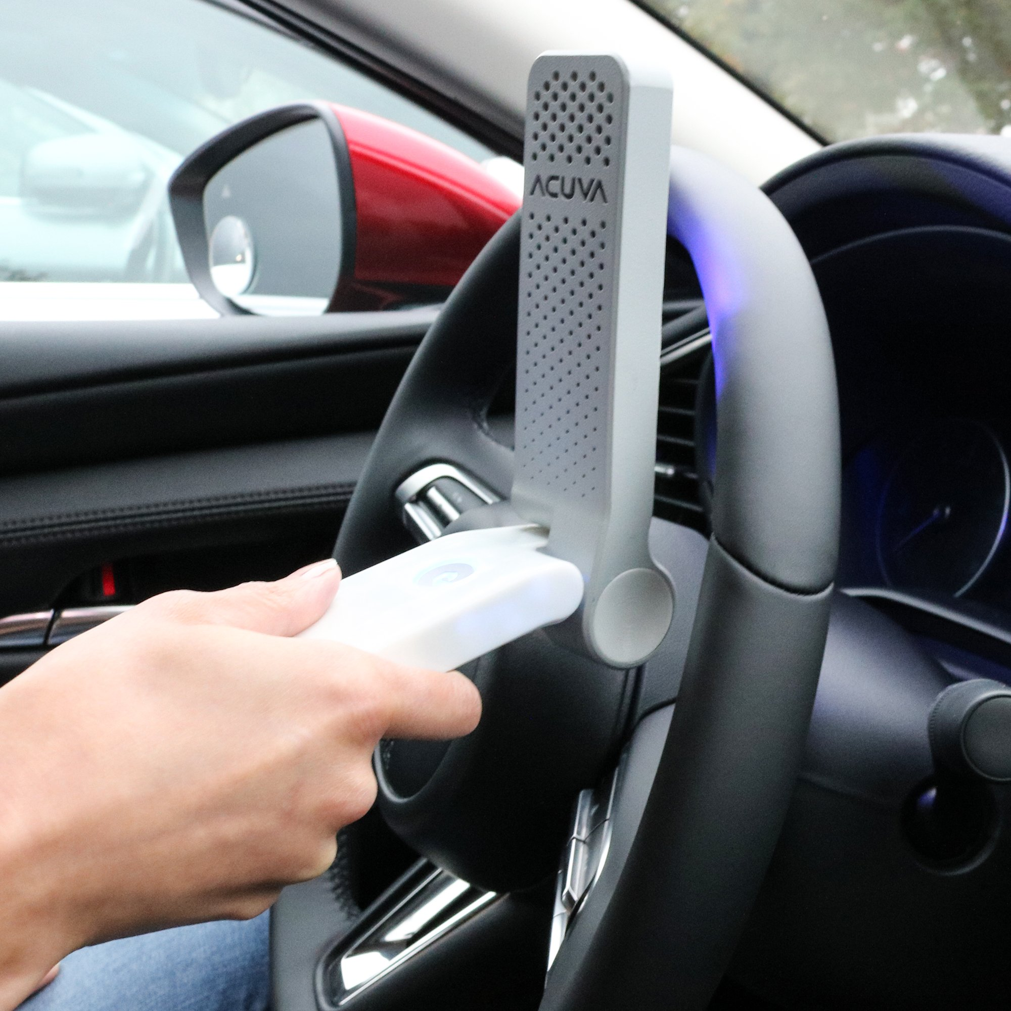 Disinfect Car Steering by UV-C Device